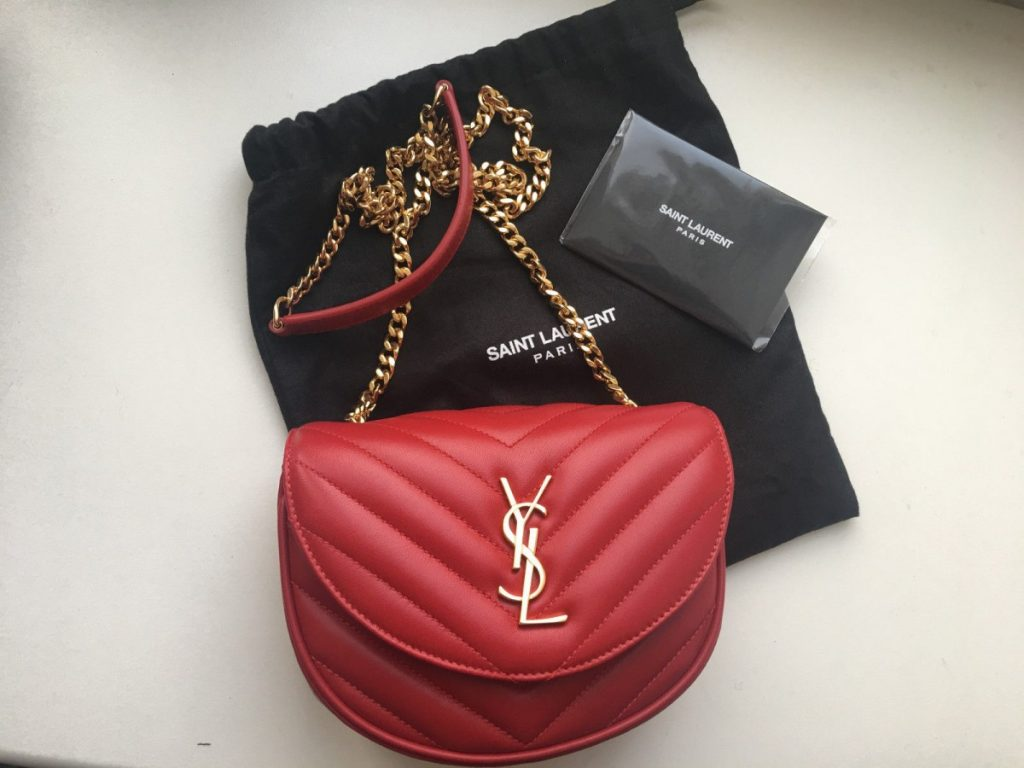 Saint Laurent red bag