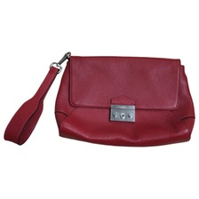 red oversized clutch