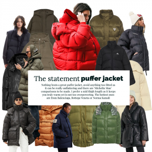 The statement puffer jacket