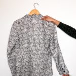 The Kooples balck and white floral blazer