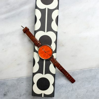 Orla Kiely Time watch with leather strap