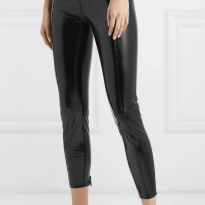 Lisa Marie Fernandez leather effect leggings
