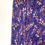 Karen Millen Foxglove Floral Print On Pleat Skirt