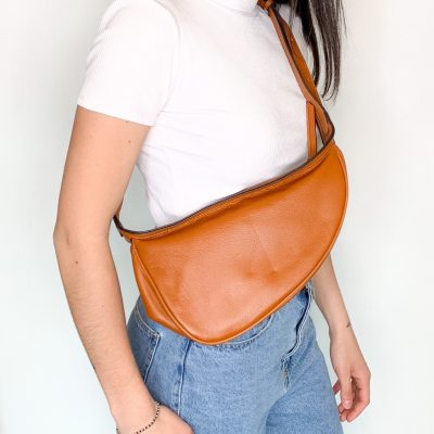 Unbranded leather croissant shoulder bag
