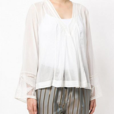 FORTE FORTE – Cotton And Silk Top Womens Tops White