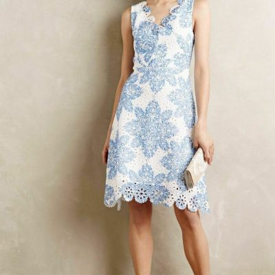 Starflower Scalloped Dress