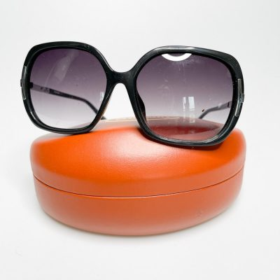 Missoni black rectangle sunglasses with silver detailing