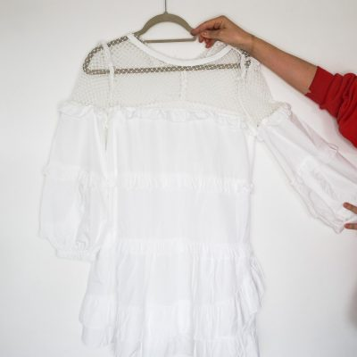 No.21 white cotton summer dress as new