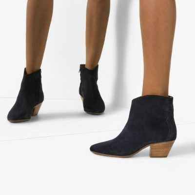 Isabel Marant 'dacken' ankle boots in black suede
