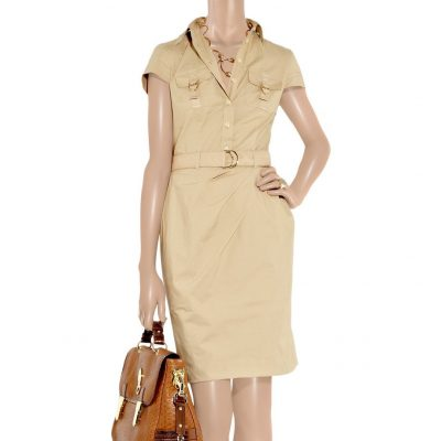 Lyst Belted Cotton Poplin Safari Dress Moschino reloved again
