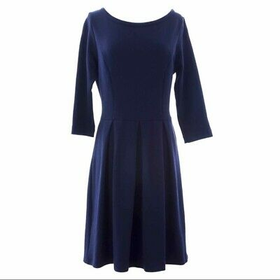 Boden blue fit and flare dress